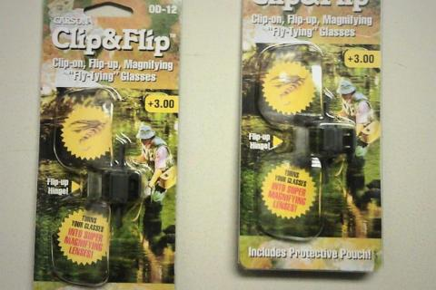 CLIP-ON MAGNIFYING GLASSES / Set of Two Photo