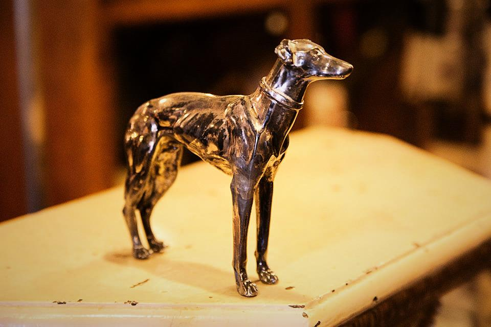 Greyhound Dog Figurine Large Photo