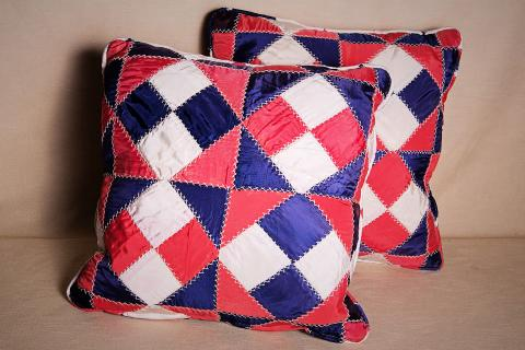 Silk Patchwork Pillows Photo