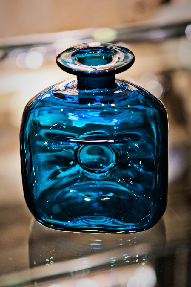 Blue Glass Bolighus Photo