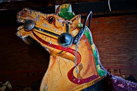 Vintage Carousel Horse Photo