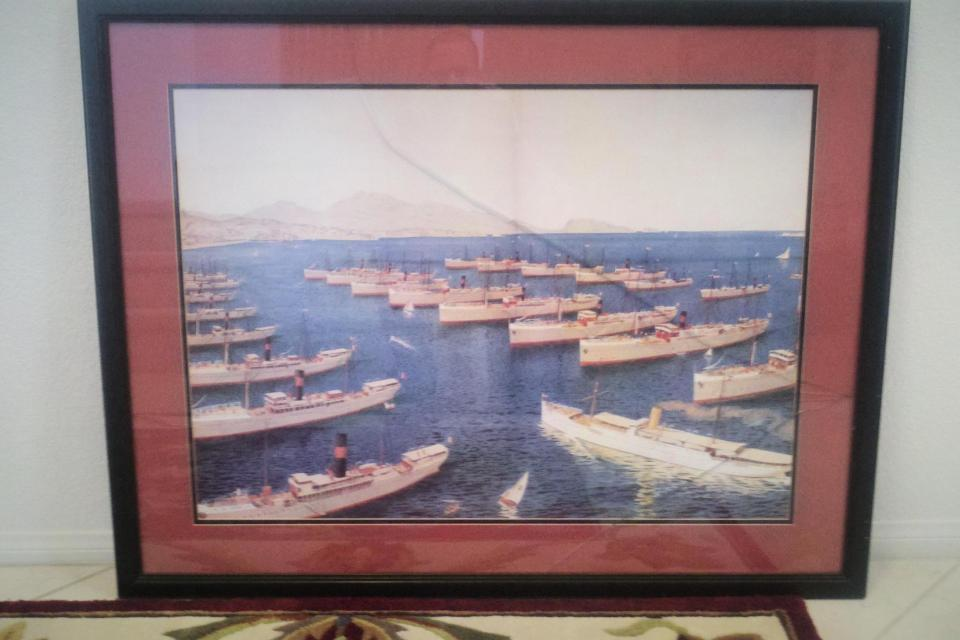 Harbor wall hanging. Large Photo