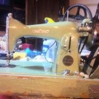 Antique sewing machine Photo