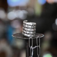 Vintage Tribal Silver Snake Ring Photo