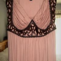 Sky large Maxi dress with leather  Photo