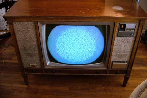 Zenith Roundie Color TV w/29JC20 Chassis & Space Command Photo
