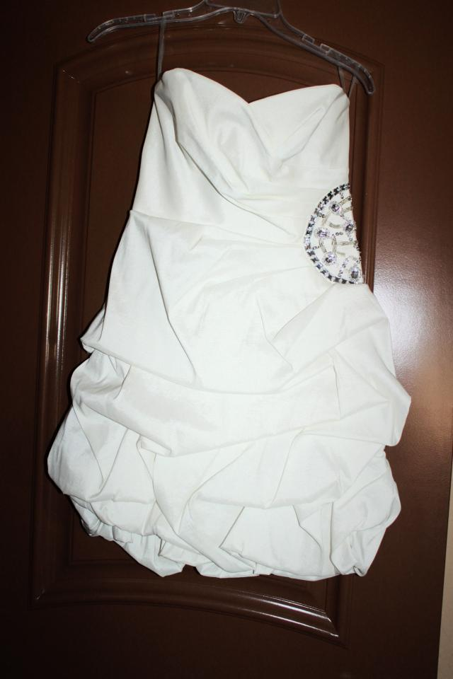 white short prom dress Photo