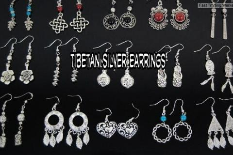 Tibetan Silver Earrings Photo