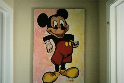 Mickey Mouse Canvas Art Photo