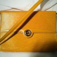 Louis Vuitton epi leather yellow clutch Photo