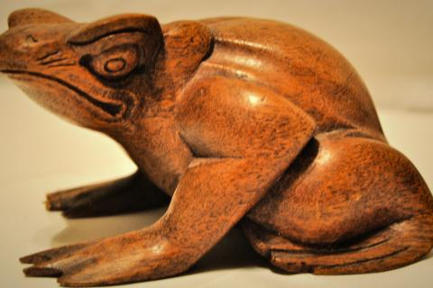 Wooden Toad/Frog Antique! Photo