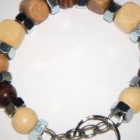 Nuts and Bolts Key Chain with Wooden Beads Photo