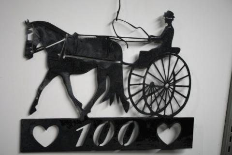 Cart Horse Mailbox Sign Photo