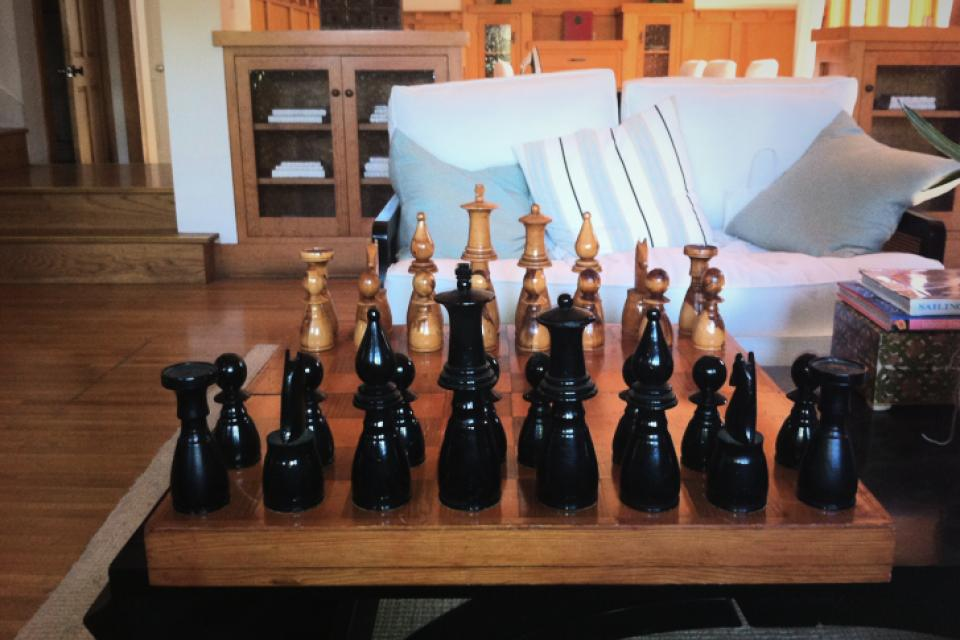 Wood Over-Sized Gorgeous CHESS SET Large Photo
