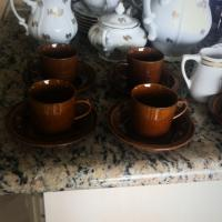 Set of 5 double expresso cups/saucers Photo