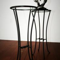  Elegant Metal Pedestal with Glass Top  Photo