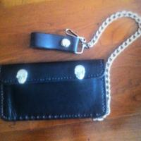 100% leather biker wallet Photo