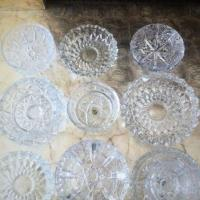 collection  of  crystal  ashtrays Photo