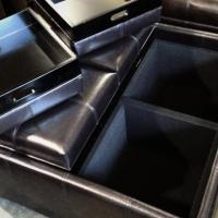 4 tray top storage ottoman Photo