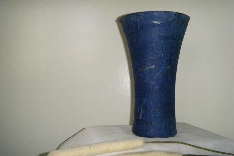 Hand-Crafted  Blue Vase Photo