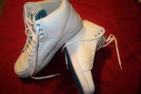 high-end mens' leather high-tops - size 12 - discontinued Photo