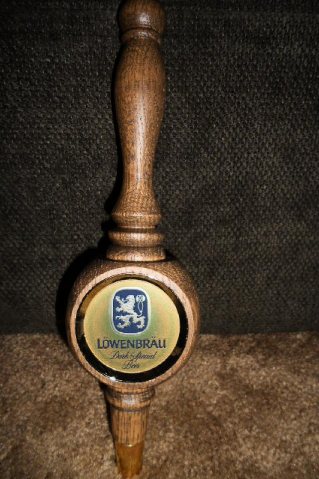 LOWENBRAU Wood Beer Tap Handle Photo