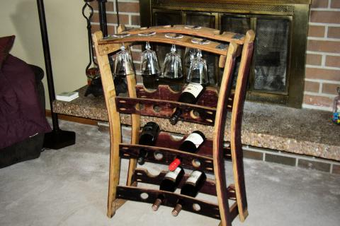 wine barrel wine rack Photo