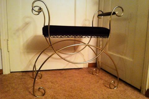 Velvet Vanity Bench Photo