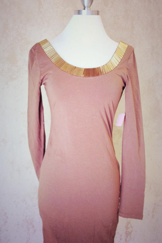 Long sleeve sexy form fitting dress Photo