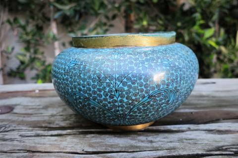 Turquoise Cloisonne  Vase/Planter/Pot Photo
