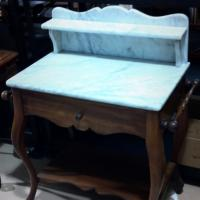 ANTIQUE WALNUT MARBLE VICTORIAN WASH STAND Photo
