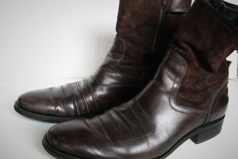 DKNY Men's Leather/Suede Boots Photo