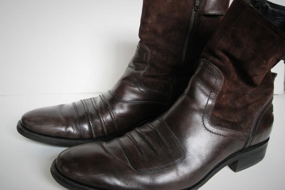 DKNY Men's Leather/Suede Boots Large Photo