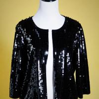 Adrianna Papell Sequin Cape Photo