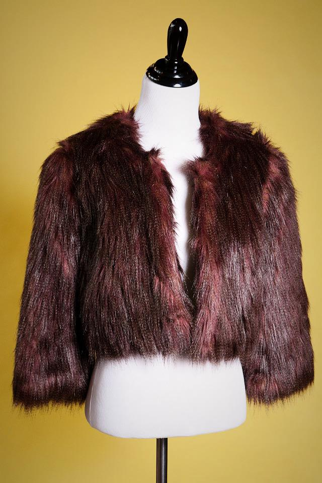 INC Faux Fur Jacket Photo