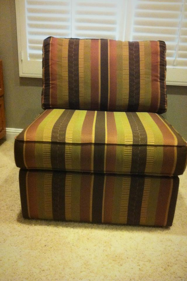 Striped Side Chair from Pier One Imports Large Photo