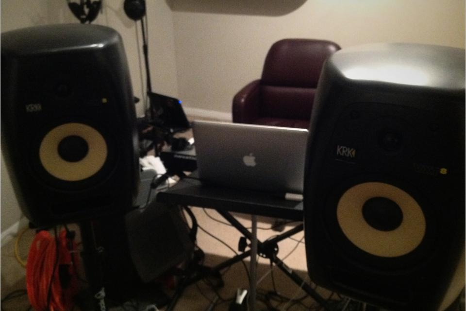 Pair of KRK VXT8 studio monitor speakers Large Photo