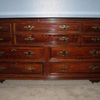 Solid cherry wood dresser and night stand Photo
