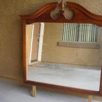 cherry wood dresser mirror Photo
