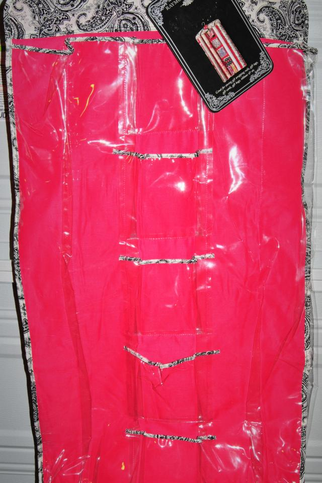 HANGING PINK ORGANIZER RAYMOND WAITES GIFT WRAPPING ORGANIZER *NEW* Photo