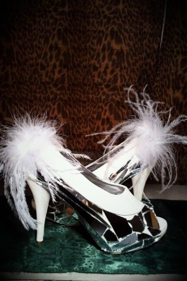 Custom design BROKEN MIRROR HEELS SIZE 9 Photo