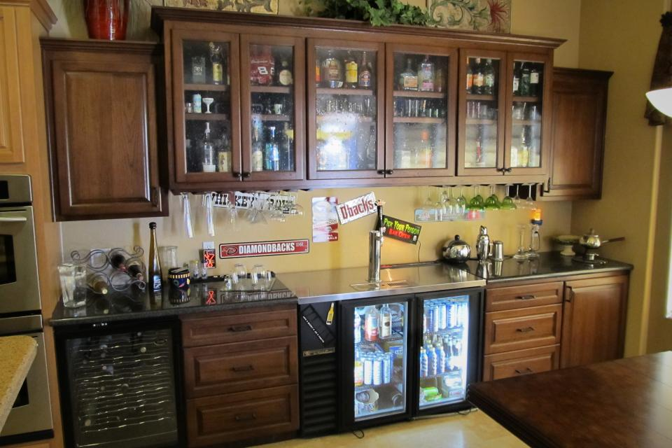Custom hardwood bar for sale Large Photo