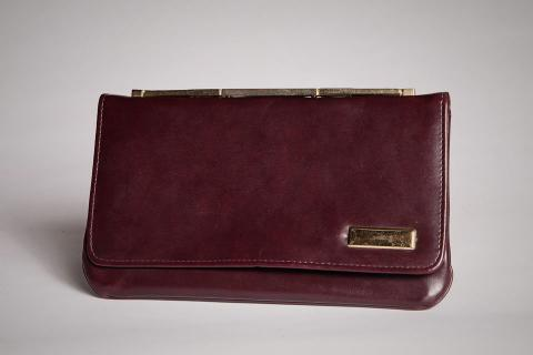 Faux Burgundy Clutch Photo