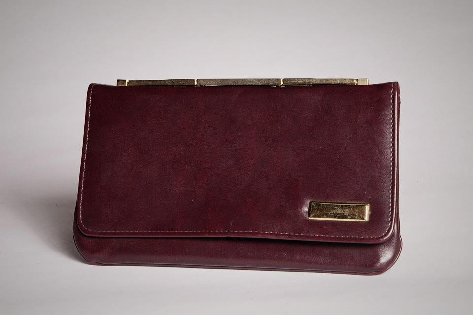 Faux Burgundy Clutch Large Photo