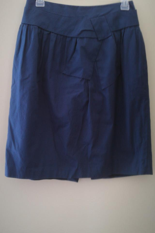 Blue cotton skirt size 8 Barneys New York label Photo