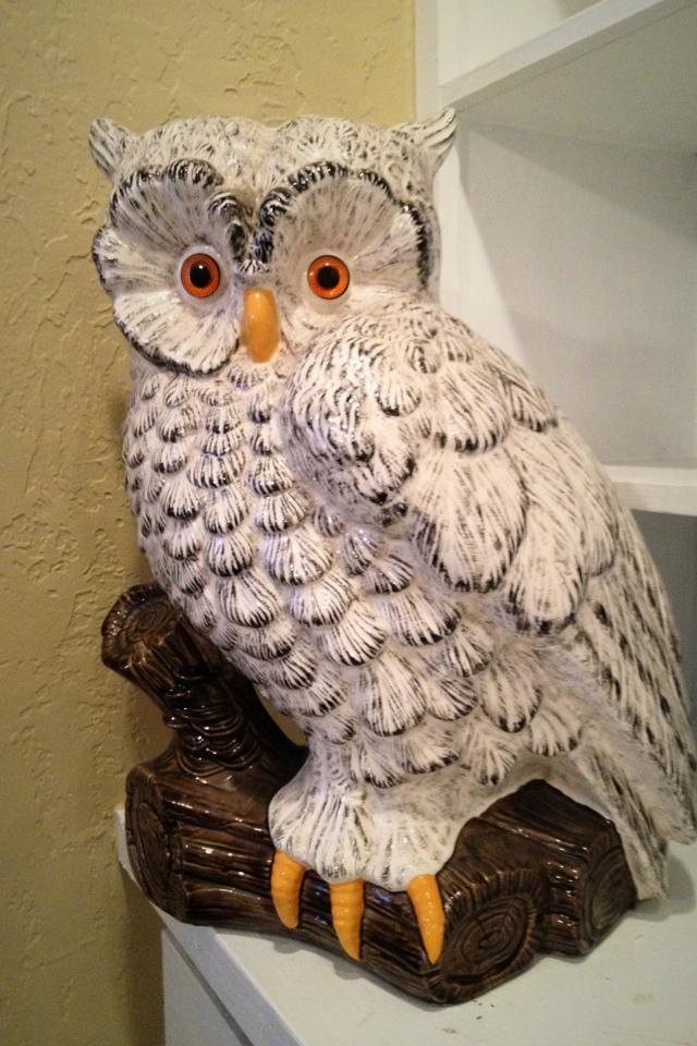 Ceramic Owl Statue Large Photo