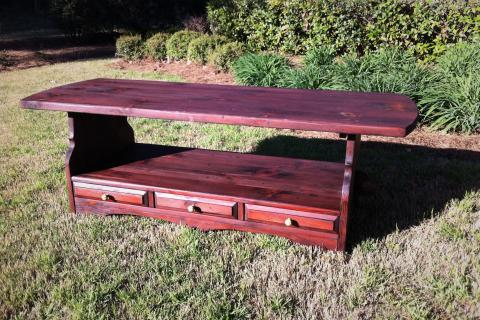 Reclaimed Wood Farm Style Coffee Table Photo