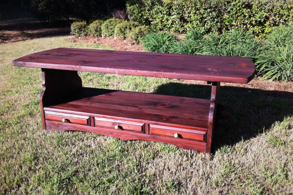 Reclaimed Wood Farm Style Coffee Table Large Photo