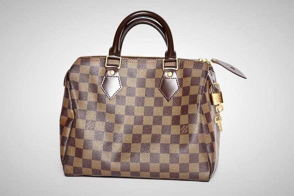 Louis Vuitton Damier Ebene Canvas Speedy 25 Large Photo