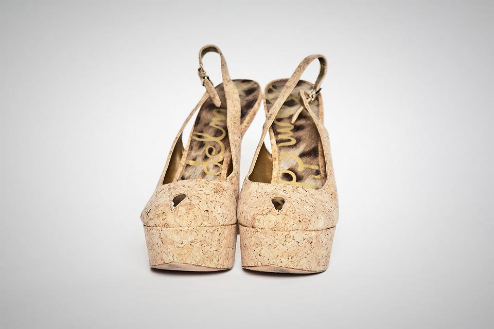 Sam Edelman Novato Natural Cork High Heels Large Photo